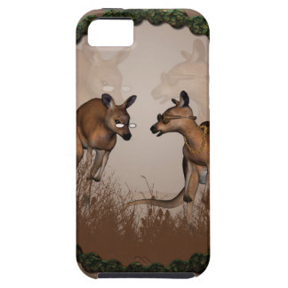 Best friends, cute kangaroos with sunglassees iPhone SE/5/5s case
