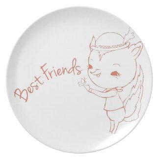 Best Friends Dinner Plate