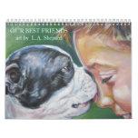 Best Friends Dog Art Fine Art Calendar