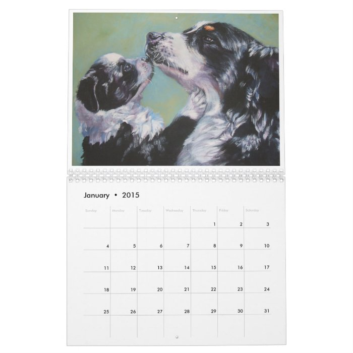 Calendar Fine Art : Best friends dog art fine calendar zazzle