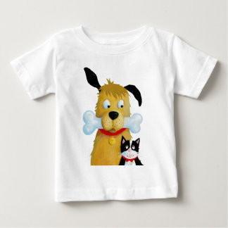 Best friends Dog & Cat - Toddler Baby T-Shirt