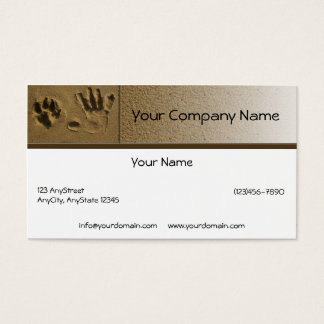 Best Friends Dog Paw and Hand Print Business Card