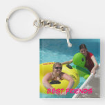 Best friends Double-Sided square acrylic keychain
