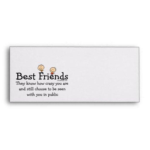Best Friends Envelope