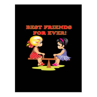 Best Friends For Ever Postcard