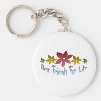 Best Friends For Life Basic Round Button Keychain