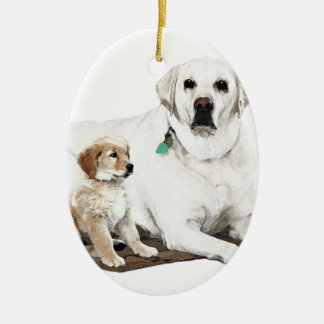 Best friends for life ceramic ornament