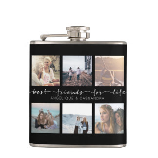 Best Friends for Life Instagram Photo Typography Flask