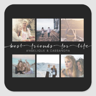 Best Friends for Life Instagram Photo Typography Square Sticker