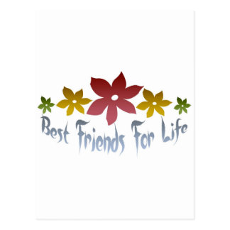 Best Friends For Life Postcard
