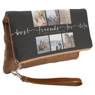 Best Friends for Life Typography Instagram Photos Clutch