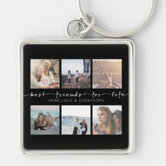 Best Friends for Life Typography Instagram Photos Keychain