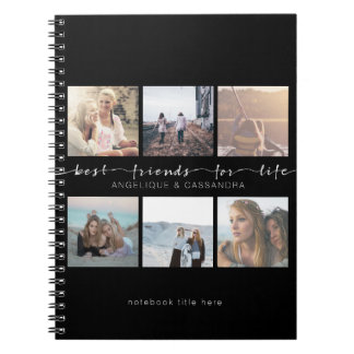 Best Friends for Life Typography Instagram Photos Notebook