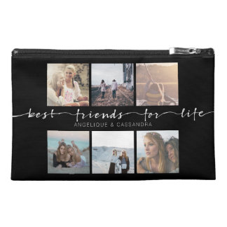 Best Friends for Life Typography Instagram Photos Travel Accessory Bags