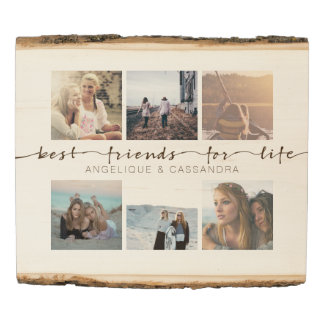 Best Friends for Life Typography Instagram Photos Wood Panel