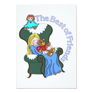 Best Friends for Little Girl Sitting in Chair Custom Invite