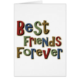 Best Friends Forerver Card