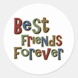 Best Friends Forerver Classic Round Sticker