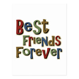 Best Friends Forerver Postcard