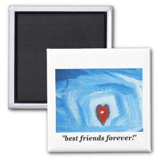 BEST FRIENDS FOREVER 2 INCH SQUARE MAGNET