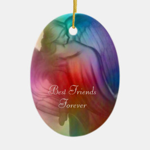 best friends forever angel ornament