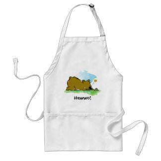 Best Friends Forever - Bear and Caterpilar Adult Apron
