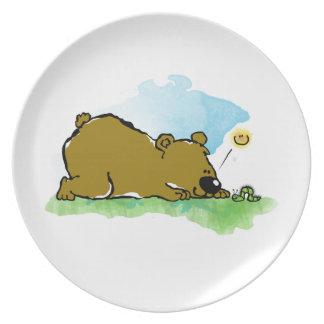 Best Friends Forever - Bear and Caterpilar Melamine Plate