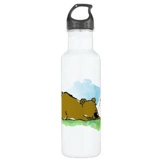 Best Friends Forever - Bear and Caterpilar Water Bottle
