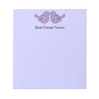 Best Friends Forever, BFF Cute Love Birds Notepad