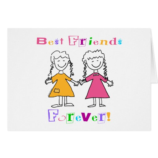 Best Friends Forever BFF Gifts Card