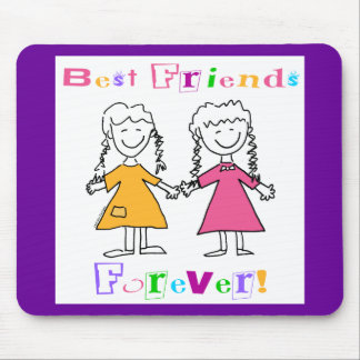 Best Friends Forever BFF Gifts Mouse Pad