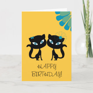 Best Friends Forever (BFF), I love Cats! Greeting Cards