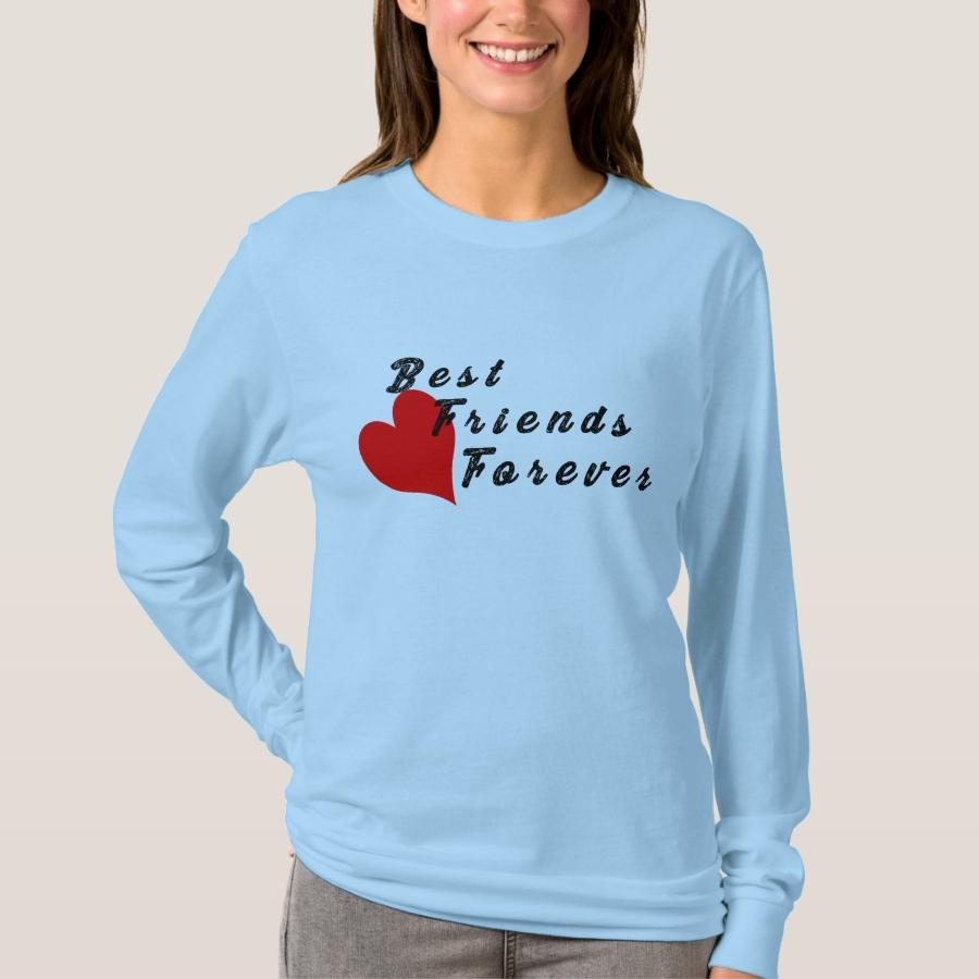 Best Friends Forever BFF long-Sleeve T-shirt - Best Selling Long-Sleeve Street Fashion Shirt Designs