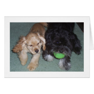 BEST FRIENDS FOREVER BIRTHDAY WISHES FROM PUPS STATIONERY NOTE CARD