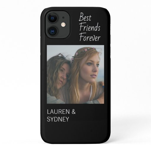 Best Friends Forever Black Friendship Photo iPhone 11 Case