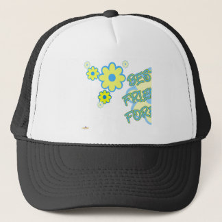 Best Friends Forever Blue Yellow Flowers Part 1 Trucker Hat