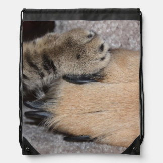 Best Friends Forever by Shirley Taylor Drawstring Backpack