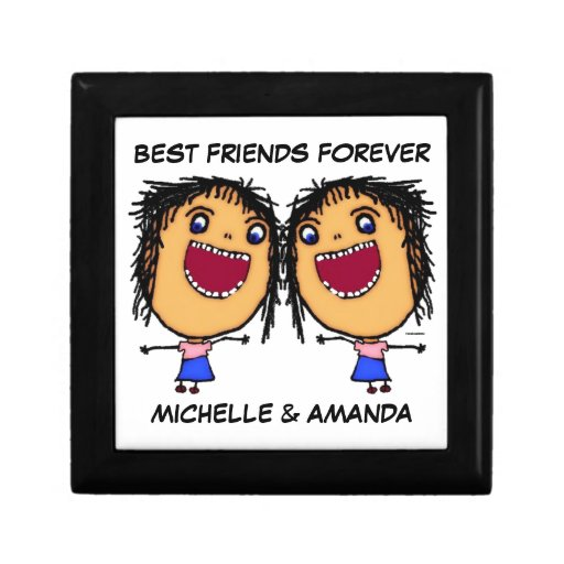 Best Friends Forever Cartoon Gift Box from Zazzle.