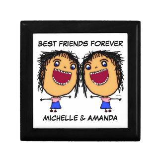Best Friends Forever Cartoon Jewelry Box