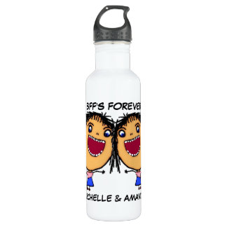 Best Friends Forever Cartoon Water Bottle