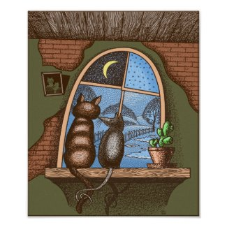 Best friends forever, cat and mouse, poster