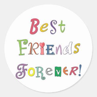 Best Friends Forever Classic Round Sticker