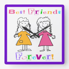 Best Friends Clock