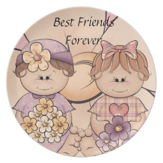 Best Friends Forever Cuddly Babies Plate