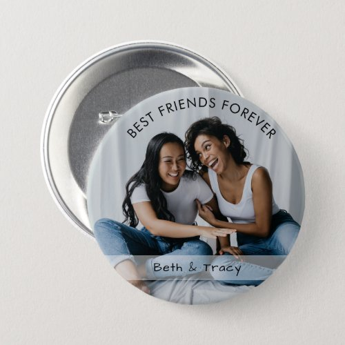 Best Friends Forever Custom Photo  Name Button