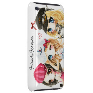 Best friends forever - cute anime chibis iPod touch case