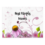 Best Friends Forever, Daisy Graphic Design Postcard