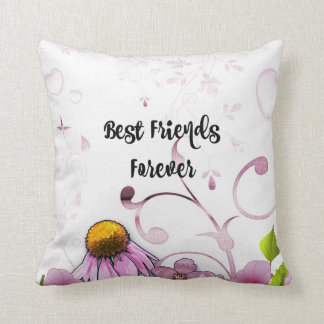 Best Friends Forever, Daisy Graphic Design Throw Pillow