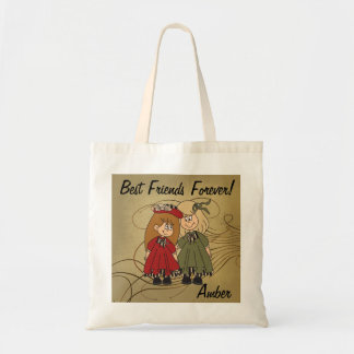 Best Friends Forever | DIY Name Budget Tote Bag