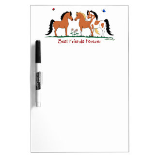 Best Friends Forever Equestrian Dry-Erase Board